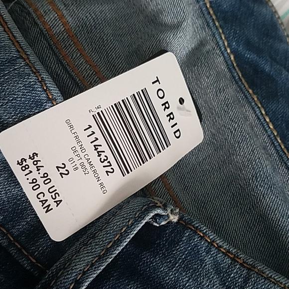 00773433be0 Torrid girlfriend Jeans 22R